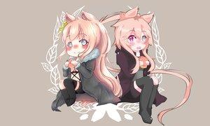 Rating: Safe Score: 9 Tags: bicolored_eyes catgirl chibi long_hair original ponytail User: raptorscyte