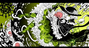 Rating: Safe Score: 62 Tags: blood dress green green_eyes hat komeiji_koishi shigureru touhou User: Flandre93