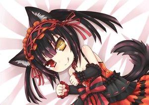 Rating: Safe Score: 263 Tags: animal_ears black_hair bow catgirl date_a_live dress greenteaneko ribbons tail tokisaki_kurumi User: Mhand16
