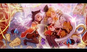 Rating: Safe Score: 31 Tags: 2girls animal_ears blonde_hair blush bow cake charlotte_(mahou_shoujo_madoka_magica) food hat long_hair mahou_shoujo_madoka_magica majiang momoe_nagisa pink_hair tomoe_mami twintails User: RyuZU
