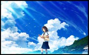 Rating: Safe Score: 25 Tags: animal bird clouds fan original scenic seifuku skirt sky technoheart User: FormX
