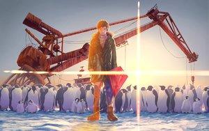 Rating: Safe Score: 30 Tags: all_male animal male original penguin short_hair snow takamon9855 User: RyuZU