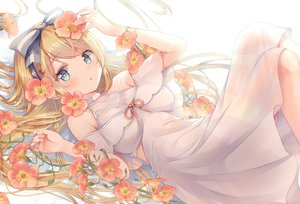 Rating: Safe Score: 154 Tags: aqua_eyes blonde_hair blush bow dress flowers gomano_rio headband long_hair original User: BattlequeenYume