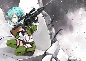 Rating: Safe Score: 180 Tags: gun gun_gale_online hao_(patinnko) shinon_(sao) sword_art_online weapon User: FormX