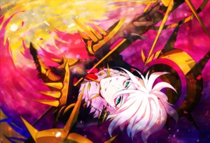 Rating: Safe Score: 16 Tags: all_male fate/apocrypha fate_(series) green_eyes karna ketten male short_hair white_hair User: RyuZU
