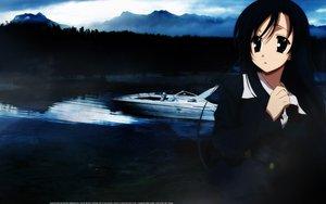 Rating: Safe Score: 6 Tags: black_eyes black_hair boat katsura_kotonoha school_days skirt sky water User: Oyashiro-sama