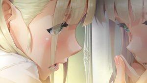 Rating: Safe Score: 57 Tags: all_male aqua_eyes bishoujo_mangekyou blonde_hair blush close crying game_cg happoubi_jin kannagi_yuuma long_hair male mirror omega_star reflection tears trap User: mattiasc02