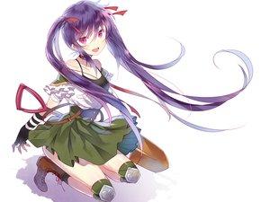 Rating: Safe Score: 123 Tags: boots ebisuzawa_kurumi fang gakkou_gurashi! gloves purple_eyes purple_hair school_uniform tagme_(artist) twintails white User: luckyluna