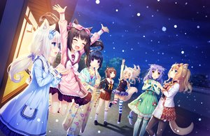 Rating: Safe Score: 64 Tags: animal_ears azuki_(sayori) black_hair blonde_hair blue_eyes brown_eyes brown_hair catgirl chocola_(sayori) cinnamon_(sayori) coconut_(sayori) game_cg green_eyes group japanese_clothes kimono loli long_hair maple_(sayori) minazuki_shigure nekopara neko_works night orange_hair pantyhose purple_eyes purple_hair sayori school_uniform short_hair snow tail thighhighs vanilla_(sayori) white_hair yellow_eyes User: SciFi