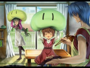 Rating: Safe Score: 50 Tags: clannad dango_(clannad) ibuki_fuuko okazaki_tomoya okazaki_ushio User: HawthorneKitty