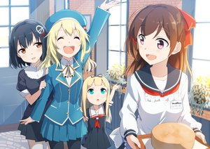 Rating: Safe Score: 134 Tags: anthropomorphism apron atago_(kancolle) black_hair blonde_hair blue_eyes blush brown_eyes brown_hair gochou_(comedia80) group haguro_(kancolle) hat kantai_collection loli long_hair mamiya_(kancolle) pantyhose school_uniform short_hair skirt yuudachi_(kancolle) User: Flandre93