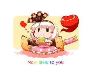Rating: Safe Score: 8 Tags: black_eyes candy chocolate food headband heart kashuu_(b-q) konpaku_youmu myon short_hair skirt sword touhou weapon white_hair User: otaku_emmy