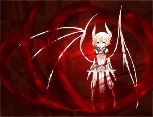 Rating: Safe Score: 53 Tags: armor ganesagi horns original red_eyes short_hair sword weapon white_hair wings User: Tensa