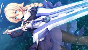 Rating: Safe Score: 29 Tags: aqua_eyes blazblue blonde_hair daiaru es_(blazblue) long_hair sword weapon User: sadodere-chan