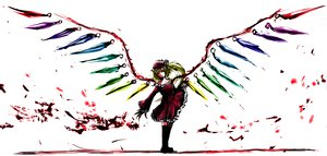 Rating: Safe Score: 68 Tags: 31_violence blood dress flandre_scarlet hat polychromatic touhou vampire white wings User: PAIIS