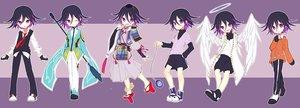 Rating: Safe Score: 20 Tags: all_male angel black_hair cosplay dangan-ronpa dualscreen gloves halo hat hunter_x_hunter japanese_clothes katekyou_hitman_reborn male new_dangan-ronpa_v3 ouma_kokichi purple_eyes samurai short_hair shorts spear tagme_(artist) tales_of_zestiria touken_ranbu waifu2x weapon wings wink User: otaku_emmy