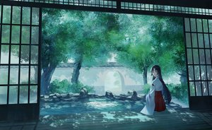 Rating: Safe Score: 23 Tags: japanese_clothes long_hair miko original scenic yingsu_jiang User: sadodere-chan