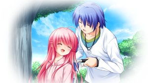 Rating: Safe Score: 55 Tags: angel_beats! game_cg hinata_hideki key male na-ga yui_(angel_beats!) User: Tensa