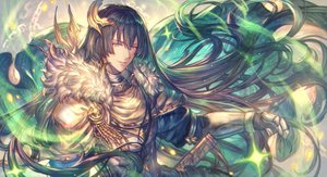Rating: Safe Score: 31 Tags: all_male armor brown_hair cape chain freyr granblue_fantasy long_hair magic male purple_eyes shigaraki_(strobe_blue) User: otaku_emmy