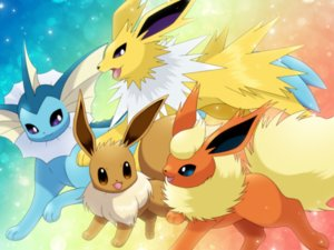 Rating: Safe Score: 24 Tags: eevee flareon jolteon maiko_(mimi) pokemon vaporeon User: otaku_emmy