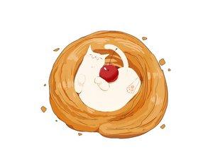 Rating: Safe Score: 9 Tags: animal cat chai_(artist) cherry food fruit nobody original signed white User: otaku_emmy