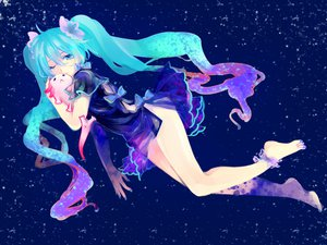 Rating: Safe Score: 98 Tags: barefoot hatsune_miku stars tsuneaki_(dosnan) vocaloid User: MissBMoon