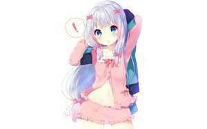 Rating: Safe Score: 216 Tags: blue_eyes blush bow eromanga-sensei gray_hair izumi_sagiri loli long_hair mafuyu_(chibi21) panties shorts underwear white User: RyuZU