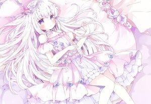 Rating: Safe Score: 58 Tags: blue_eyes blush cropped dress lolita_fashion long_hair original polychromatic tsukiyo_(skymint) white_hair User: BattlequeenYume