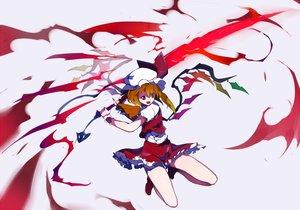 Rating: Safe Score: 21 Tags: flandre_scarlet hat ikurauni orange_hair red_eyes skirt sword touhou vampire weapon wings wristwear User: RyuZU
