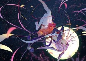 Rating: Safe Score: 120 Tags: animal_ears aqua_eyes bunny_ears honkai_impact katana long_hair moon panties purple_hair ribbons rosele sword thighhighs underwear weapon yae_sakura_(benghuai_xueyuan) User: RyuZU