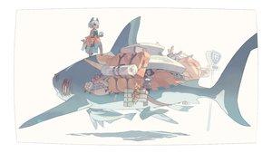 Rating: Safe Score: 29 Tags: akitsu_taira animal animal_ears fish original User: FormX