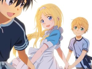Rating: Safe Score: 28 Tags: alice_schuberg apron black_eyes black_hair blonde_hair blue_eyes dress eugeo fcc green_eyes kirigaya_kazuto loli long_hair male short_hair sword_art_online sword_art_online_alicization User: RyuZU