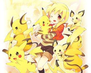 Rating: Safe Score: 128 Tags: pichu pikachu pokemon raichu tachitsu_teto User: 秀悟