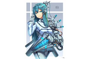 Rating: Safe Score: 41 Tags: aqua_eyes aqua_hair gia gloves long_hair original signed techgirl white User: sadodere-chan
