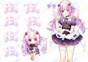 Rating: Safe Score: 35 Tags: bandage bandaid blush bow bunny chibi chihiro_(khorosho) choker collar cross eyepatch lolita_fashion long_hair necklace original purple_eyes purple_hair ribbons twintails User: otaku_emmy