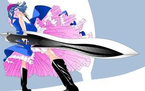 Rating: Safe Score: 19 Tags: mawari_madoka sword tenjou_tenge weapon User: acucar11