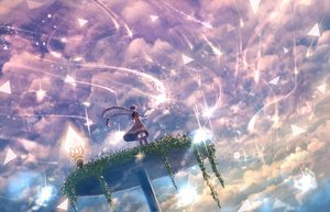 Rating: Safe Score: 77 Tags: book bou_nin braids clouds dress long_hair original scenic sky twintails User: Flandre93