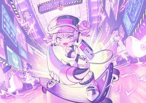 Rating: Safe Score: 4 Tags: blush chibi dress hat headphones ikari_(aor3507) original purple_eyes purple_hair User: Maboroshi