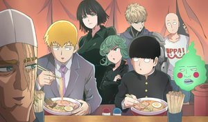Rating: Safe Score: 24 Tags: black_hair blonde_hair blue_eyes brown_hair crossover ekubo_(mob_psycho_100) food fubuki_(onepunch_man) genos green_eyes green_hair group kageyama_shigeo king_(onepunch_man) kukie-nyan male mob_psycho_100 onepunch_man reigen_arataka saitama scar seifuku short_hair tatsumaki_(onepunch_man) tie User: RyuZU