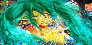 Rating: Safe Score: 51 Tags: aqua_hair green_hair hatsune_miku vocaloid User: netscout