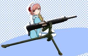 Rating: Safe Score: 26 Tags: flowers gun hu_sea maid pink_eyes pink_hair rose thighhighs weapon zettai_ryouiki User: SonicBlue