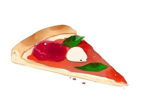 Rating: Safe Score: 17 Tags: animal bird chai_(artist) food original pizza polychromatic signed white User: otaku_emmy