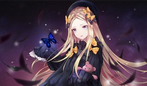 Rating: Safe Score: 19 Tags: abigail_williams_(fate/grand_order) aqua_eyes blonde_hair bow butterfly fate/grand_order fate_(series) feathers hat jeyrin52 long_hair sky stars teddy_bear User: otaku_emmy