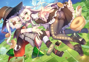 Rating: Safe Score: 112 Tags: anthropomorphism ass bandage boots cape dress eyepatch food green_eyes hat long_hair panties pantyhose rice_simon see_through sergestid_shrimp_in_tungkang tagme_(artist) thighhighs twintails underwear white_hair witch_hat User: otaku_emmy