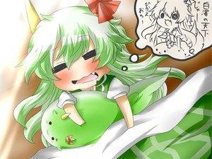 Rating: Safe Score: 35 Tags: blush cat_smile chibi ex_keine fang green_hair horns kamishirasawa_keine long_hair rebecca_(naononakukoroni) sleeping touhou User: SciFi
