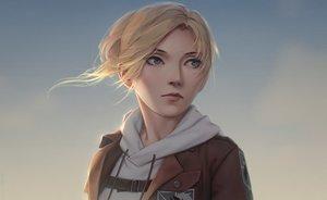 Rating: Safe Score: 32 Tags: annie_leonhardt blonde_hair blue_eyes close hoodie miura-n315 realistic shingeki_no_kyojin short_hair uniform User: SciFi
