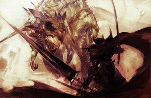 Rating: Safe Score: 63 Tags: dragon original ryota-h sword weapon User: Tensa