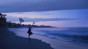 Rating: Safe Score: 85 Tags: anthropomorphism beach clouds girls_frontline long_hair m4_sopmod_ii_(girls_frontline) scenic sky water zi_ye_(hbptcsg2) User: FormX