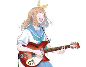 Rating: Safe Score: 34 Tags: brown_hair guitar hasisisissy hibike!_euphonium instrument school_uniform short_hair skirt white yoshikawa_yuuko User: Dreista