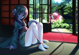 Rating: Safe Score: 107 Tags: headphones japanese_clothes koi yukata User: HawthorneKitty
